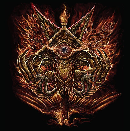 Deiphago – Into The Eye Of Satan LP (Red/Black Vinyl)