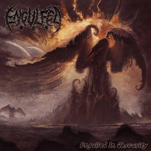 Engulfed - Engulfed in Obscurity LP (Gold w. Orange/Brown Splatter Vinyl)