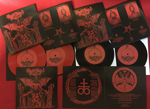 "Black Blood Invocation - Atavistic Offerings to the Sabbatic Goat 7"" EP"