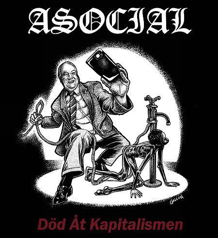 Asocial – Död Åt Kapitalismen LP