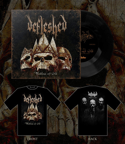 """Defleshed - Fleshless and Wild 7""""EP/SHIRT BUNDLE 1"""