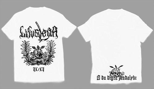 "Lifvsleda - ""IX/XI"" T-SHIRT (White Shirt) (PRE-ORDER)"