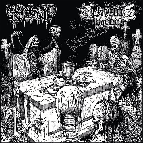 Graveyard Ghoul / Cryptic Brood ‎– The Graveyard Brood SPLIT LP