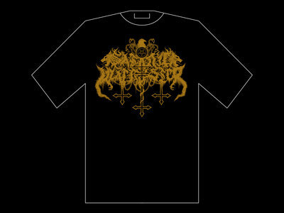 Satanic Warmaster - Gold Logo T-SHIRT