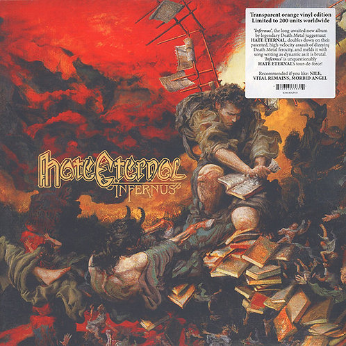 Hate Eternal - Infernus LP (Transparent Orange Vinyl)