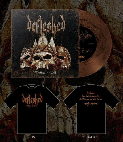 """Defleshed - Fleshless and Wild 7""""EP/SHIRT BUNDLE 2"""