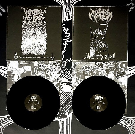 Infernal Curse / Deathly Scythe - Necromass Incantations / ...Will of Death LP