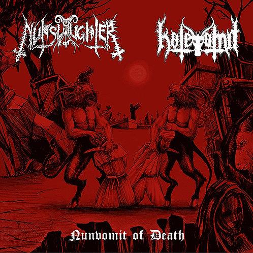 """NunSlaughter / Hatevömit - Nunvomit Of Death 7"""" EP"""
