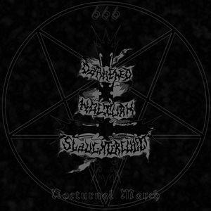 Darkened Nocturn Slaughtercult – Nocturnal March LP (Red Galaxy Vinyl)