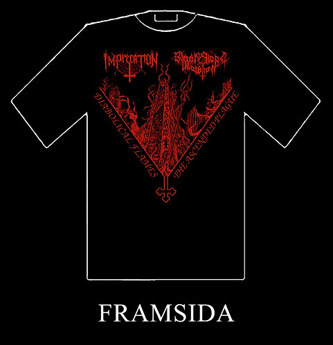 "Imprecation / Black Blood Invocation - ""Split"" T-SHIRT"