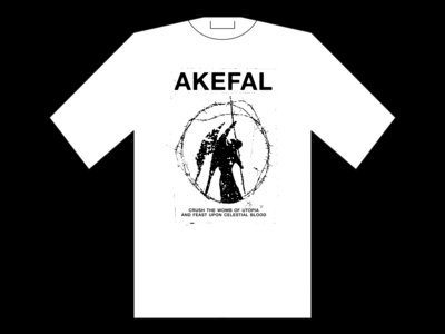 "Akefal - ""Opus Darkness"" White SHIRT (PRE-ORDER)"