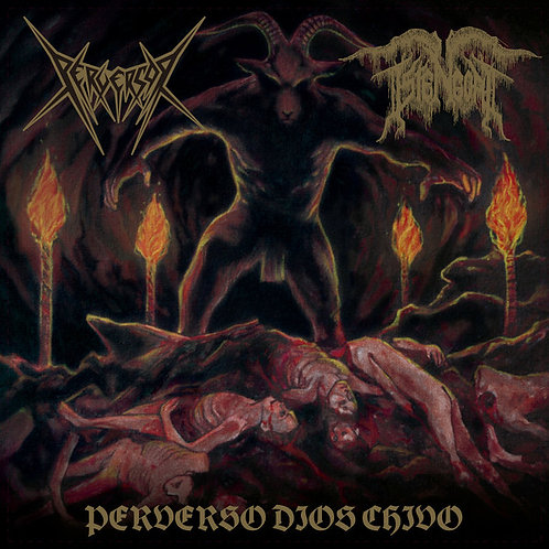 Perversor / Istengoat – Perverso Dios Chivo CD
