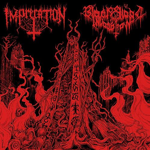 Imprecation / Black Blood Invocation - Diabolical Flames... LP (Red Vinyl)