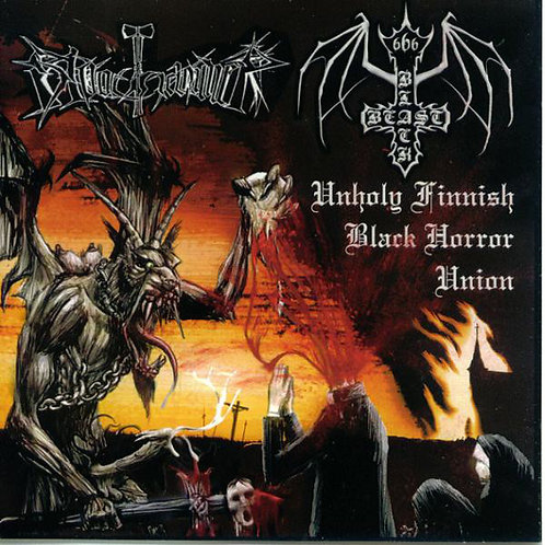Black Beast / Bloodhammer ‎– Unholy Finnish Black Horror Union MCD