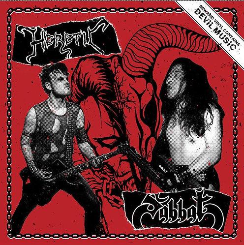 """Heretic / Sabbat - Split PIC 7""""EP"""