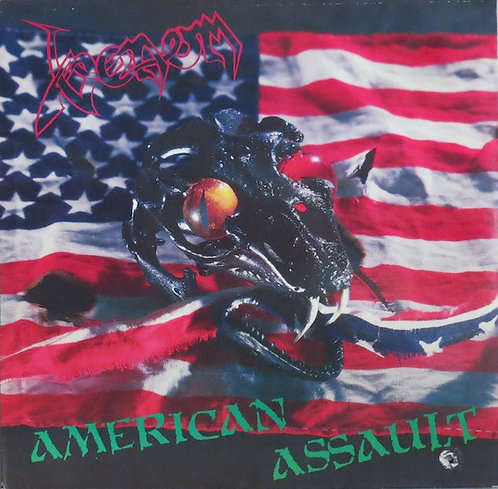 Venom - American Assault LP (Red with Blue Splatter)