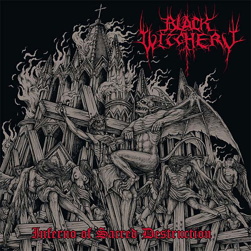 Black Witchery - Inferno of Sacred Destruction LP (Splatter Vinyl)