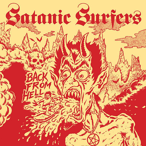 Satanic Surfers - Back from Hell LP (Red Vinyl)