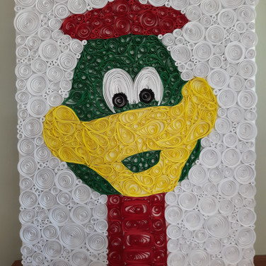 Duck with Flower Paper Quilling