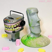 Fantasy PEZ - Teeth and Easter Island