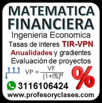Profesor particular clases particulares matematica financiera ingenieria economica en medellin a domicilio