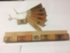 Photo of sample fan of different Sun Frog Products