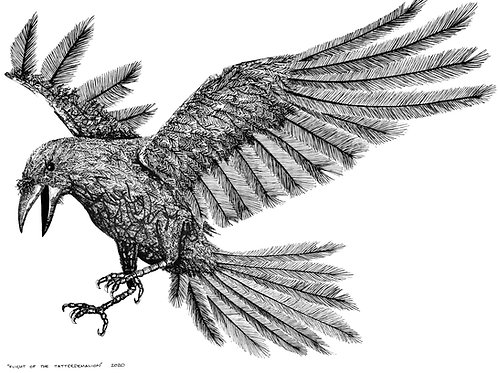 Flight! (of the Tatterdemalion) A4 print.