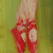 THE RED SHOES (ON GREEN)