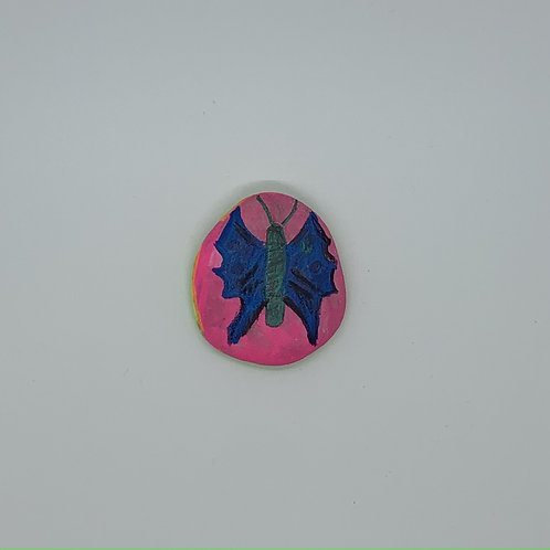 Handpainted butterfly rock for your desk, pocket, purse, garden and more.