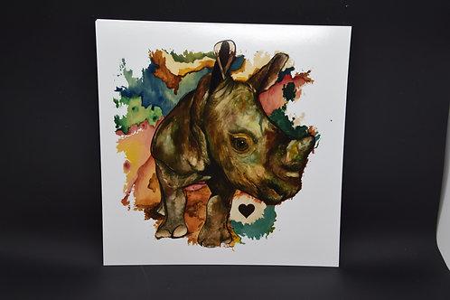 Rhino of Love: Original prints by Christina Ward