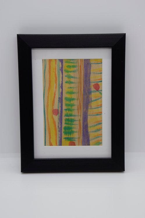 #9 Art Together is Better - Wooden stick framed creation