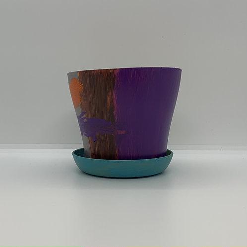 Funky Plastic 4 inch pot