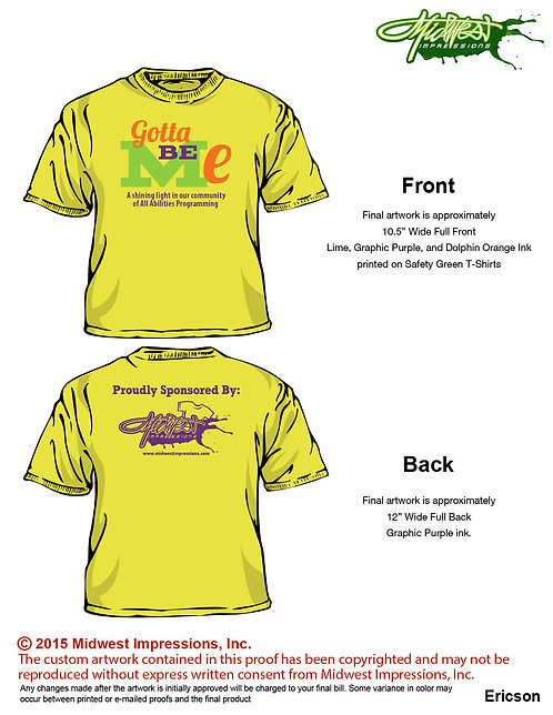 Neon Safety Yellow Short Sleeve T-shirt