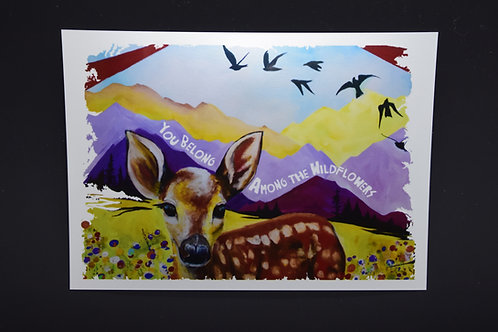 You Belong Among Wildflowers: Original prints from International Artist Chri