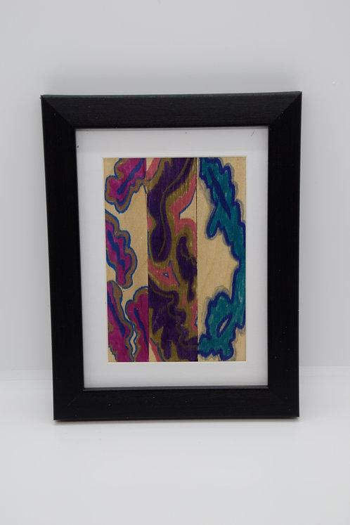 #21 Art Together is Better - Wooden stick framed creation