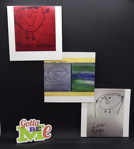 3 MORE Celebrity Cards made by artists Maddie C. LIMTED EDITIONS