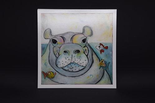 The Hippo: Original prints from International Artist Christina Ward