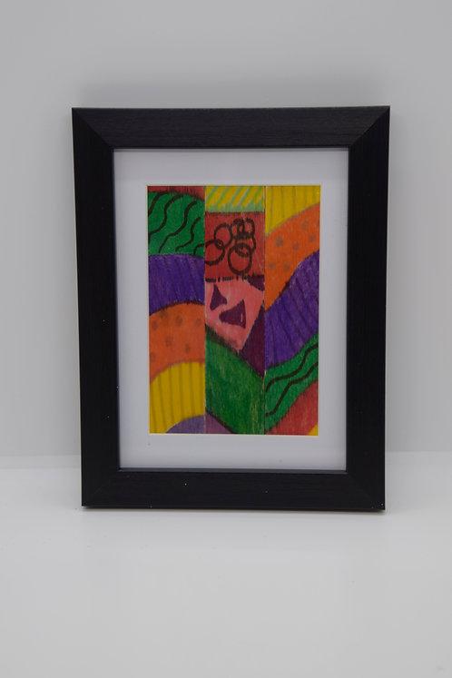#23 Art Together is Better - Wooden stick framed creation