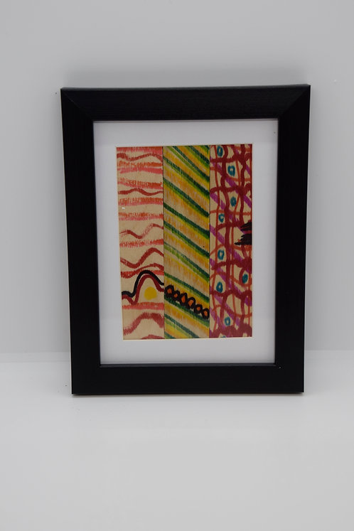 #14 Art Together is Better - Wooden stick framed creation