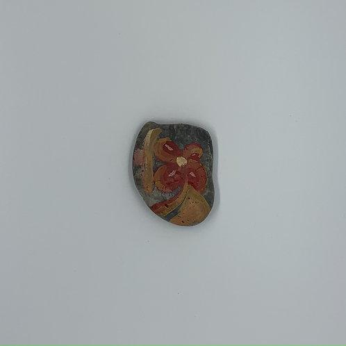 Flower rock= art for your pocket or desk