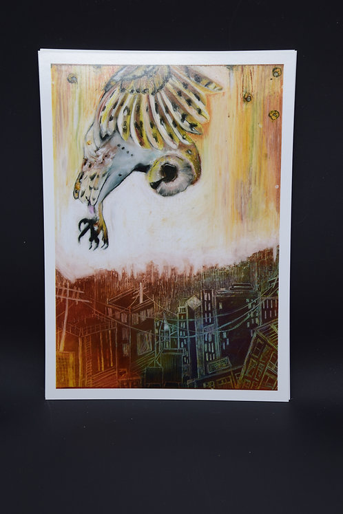 The Owl over the City: Original prints from International Artist Christina Ward