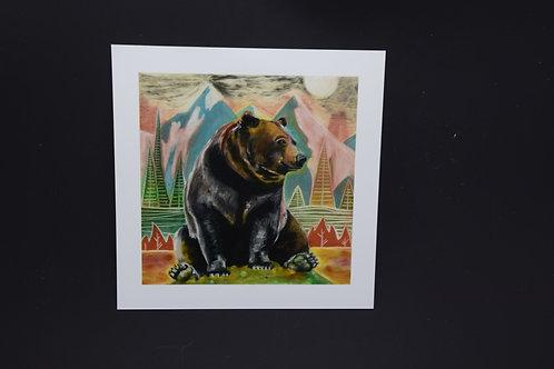 Peaceful Bear: Original prints from International Artist Christina Ward