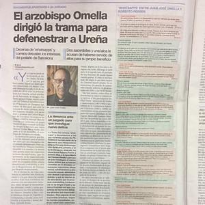 Mensajes de WhatsApp de Omella a sus espías