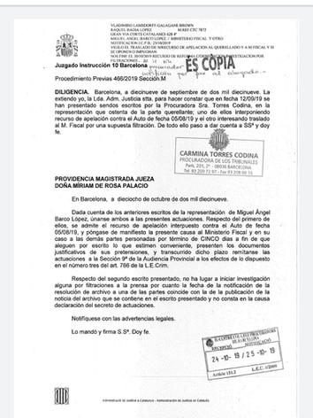 providencia admision recurso contra  arc