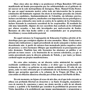 CARTA FRANCISCO RECTIFICANDO SOBRE ABUSOS CHILE