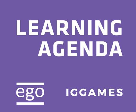 #Learning Agenda