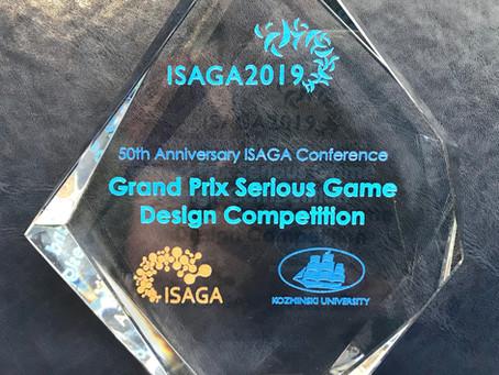 We won Grand Prix Serious Game Design Competition ISAGA 2019!