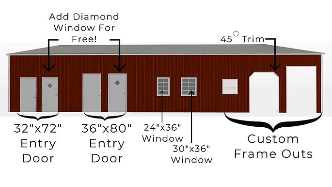 Angus Portable Buildings Metal Building Custom Options