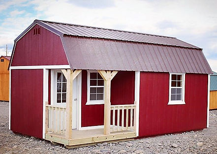 Angus Portable Buildings Side Lofted Barn Cabin