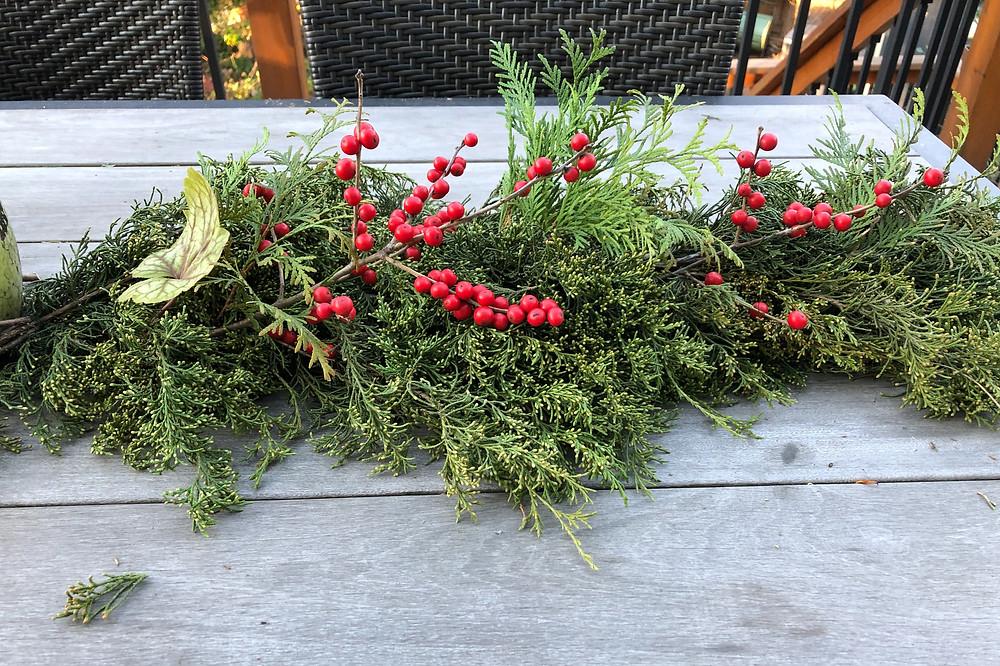 native plant decor traditional christmas